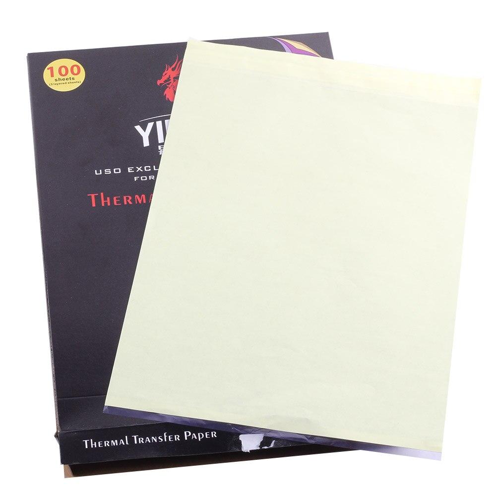 100 Pcs 3 Lapisan Kertas Transfer Tato Persediaan Karbon Paper Thermal Tattoo Stencil Tracing Copy Aksesori Di Accesories Dari