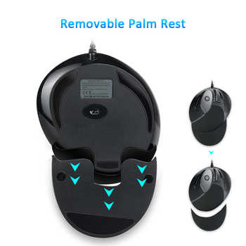 Delux M618 Ergonomic Office Vertical Mouse 6 Buttons 600/1000/1600 DPI Optical Right Hand Mice with Wrist mat For PC Laptop