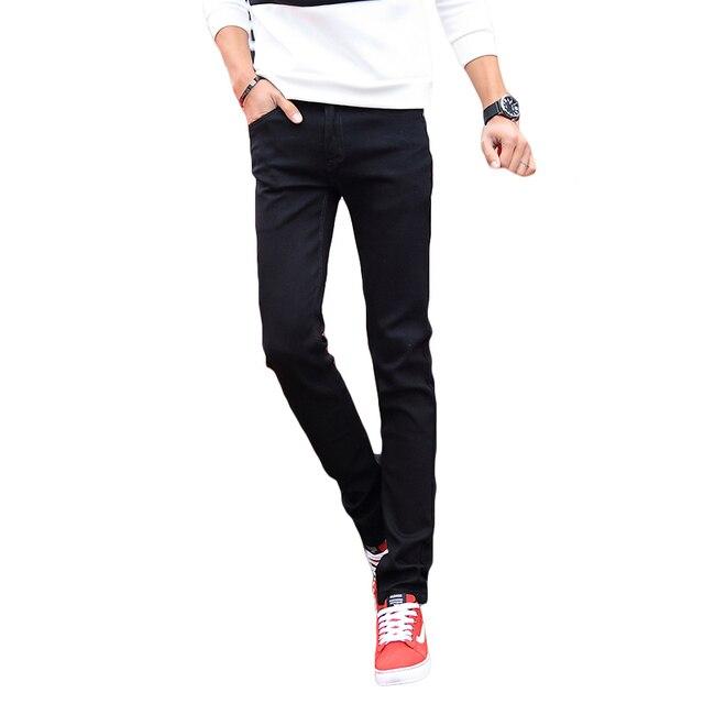8877efec Black Skinny Jeans Men Pants Slim Fit Casual Men's Denim Pant Stretch  Trousers Male Classic Pencil Style Mens Jeans