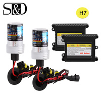 HID Xenon Conversion Kit H7 Headlight Bulbs Ballast Block Car Light Source 12V 35W 55W Auto