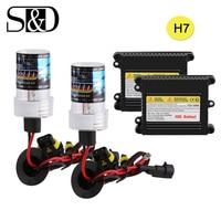 HID Xenon Conversion Kit H7 Headlight Bulbs Ballast Block Car Light Source 12V 35W 55W Auto