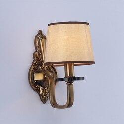Klasyczne E14 lampy ścienne LED metalowe kinkiety do przejścia korytarz sypialnia lampka nocna AC90 260V darmowa wysyłka w Wewnętrzne kinkiety LED od Lampy i oświetlenie na
