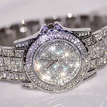 2017 Nouvelle Arrivée De Luxe Femmes Montres Strass Cristal De Luxe de Montre-Bracelet Lady Robe Montre Hommes Analogique Quartz Montres Relogio