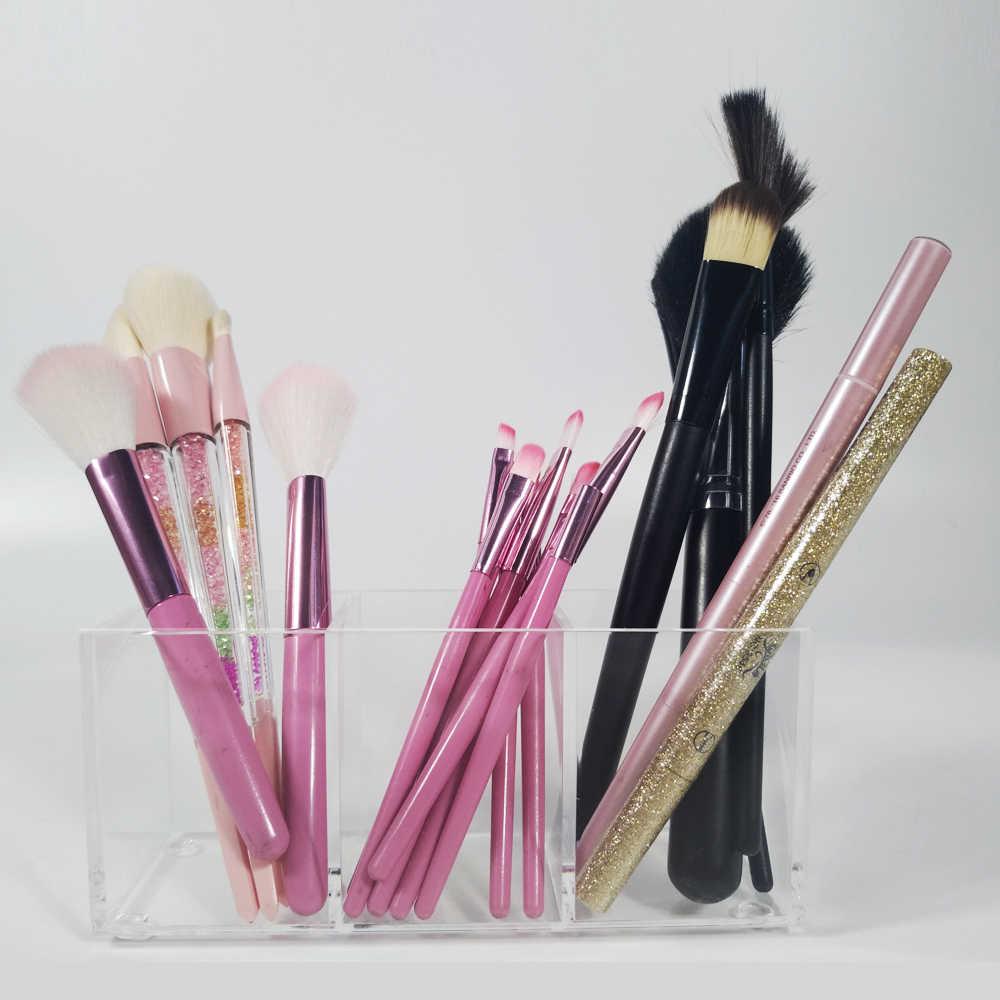 Yageli Acryl Make Organizer Borstel En Liner Opslag Make Up Tools Opbergdozen 3 Slots Lipstick Stand Case