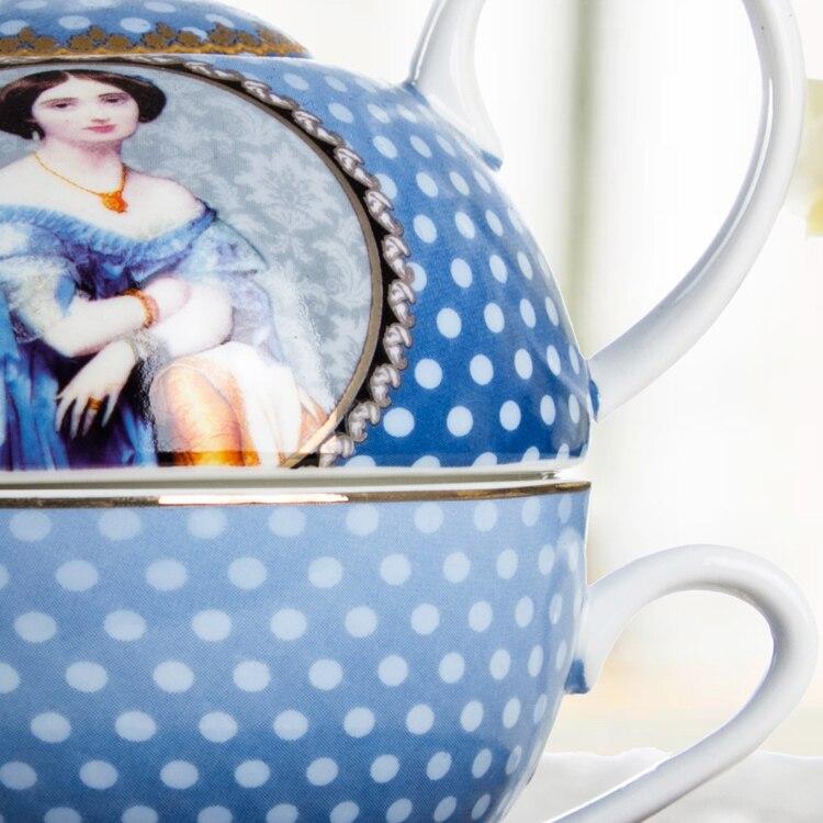 Королевский дворец в Западной Европе аристократический высококачественный креативный композитный горшок для чая кофейника - 3