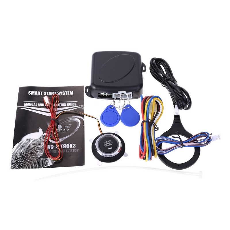 12V Car Engine Push Start Stop Button Ignition RFID Keyless Remote Starter Alarm easyguard pke car alarm system remote engine start stop shock sensor push button start stop window rise up automatically