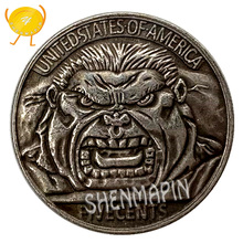 где купить Hulk Commemorative Coin Avengers Marvel Movie Brass Silver Coins Collectibles Children's Birthday Gift Hulk Spirit Honor Coins по лучшей цене