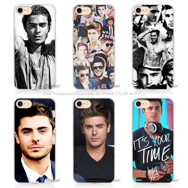 Zac Efron Hard Transparent Phone Case Cover for Apple iPhone 4 4s 5 5s SE 5C 6 6s 7 Plus