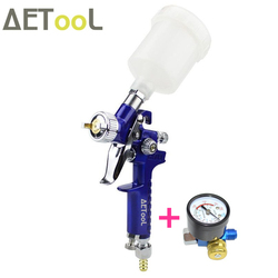 Профессиональный распылитель AETool 1,0 мм HVLP, мини-распылитель краски, Аэрограф с регулятором воздуха, датчик для покраски автомобиля, аэрогра...