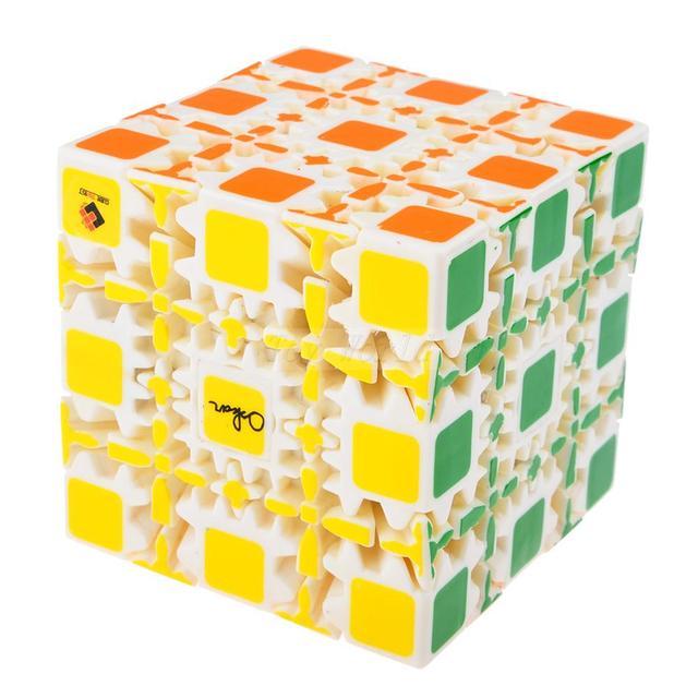 Nueva marca CT y OSKAR 5x5x5 Cubo Mágico Cubo de Engranajes Pintado Stickerless Twisty Puzzle 8 cm-blanco Cubiks Juguetes Educativo