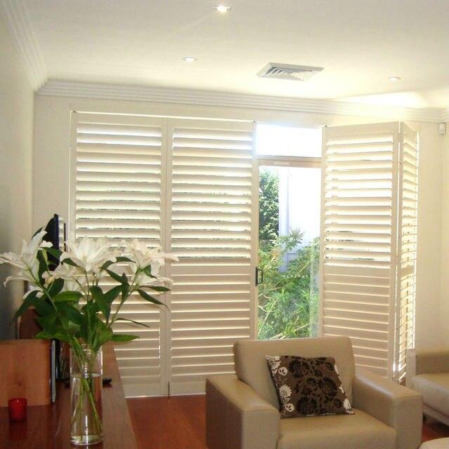 Linkok Möbel wohnzimmer Weiß Holz Fenster/tür Jalousien/Shutter in ...