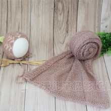 Knitted Bonnet Set Cap Neutral Baby Cocoon Crochet Stretch