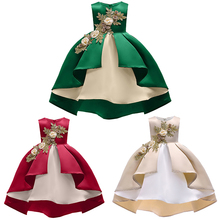 Kids Girls Dresses flower Big bow Tutu Dress for Wedding Pageant Outfits Princess Party Dress For Fashion New Year Girls Clothes fashion baby girls summer elegant bridesmaid wedding sequin bow dress kids formal prom party princess tutu pageant vest dresses