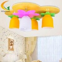 פרחי cartoon קיד Cartoon creative LED נברשת תקרת אורות תקרת חדר שינה של ילדים יצירתיים חמוד