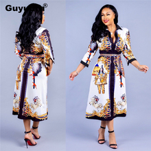 GuyuEra African Dresses For Women Fashion Hot Sale European and American Sexy Printed Ethnic Style Dress