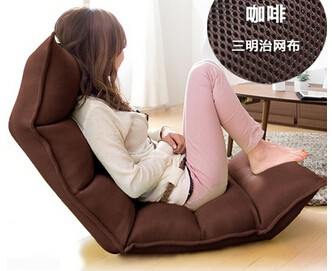 A beanbag chair. Single tatami. Folding sofa bed