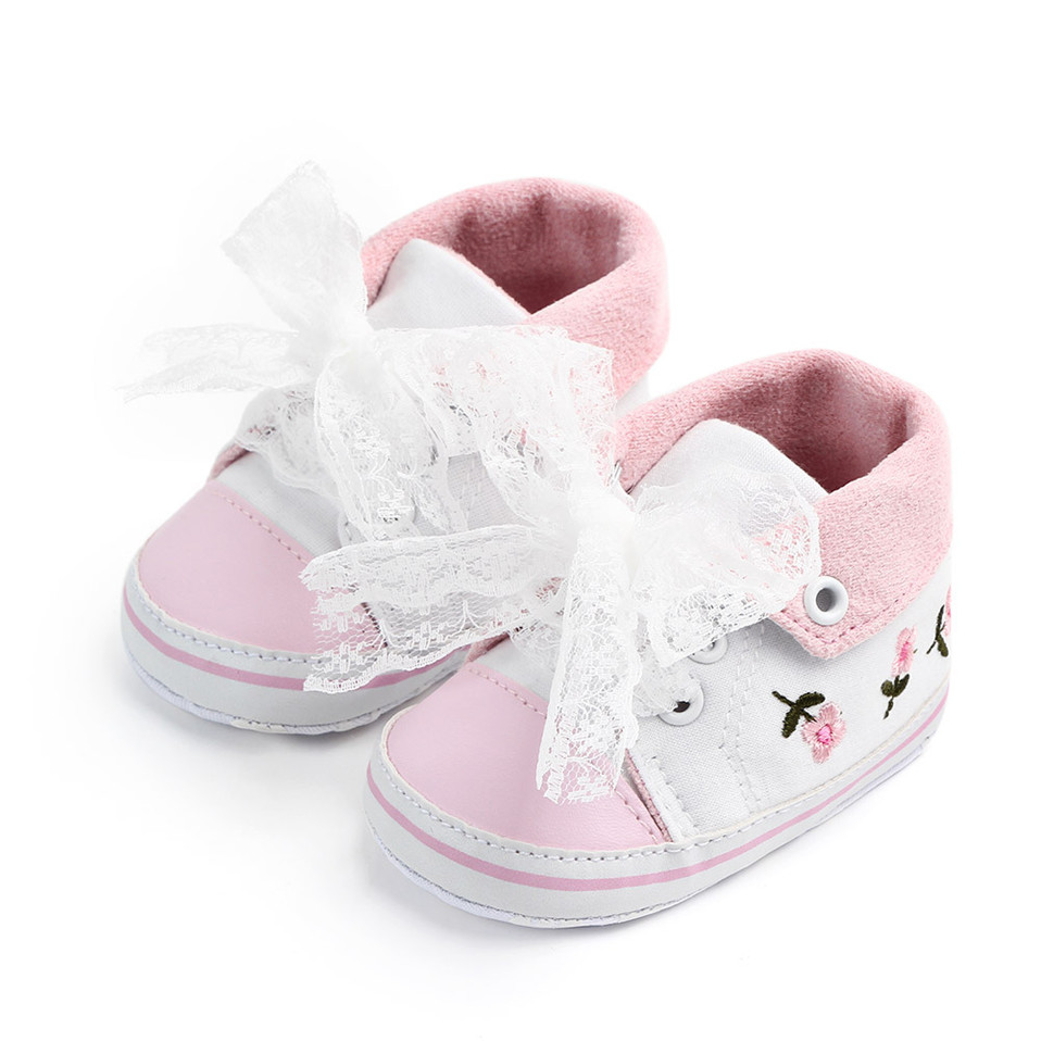 Baby Girls Princess Shoes Spring Autumn Cute Butterfly Crown Anti-slip Toddler Shoes Baby Soft Soled Shoes Indoor Crib Shoes