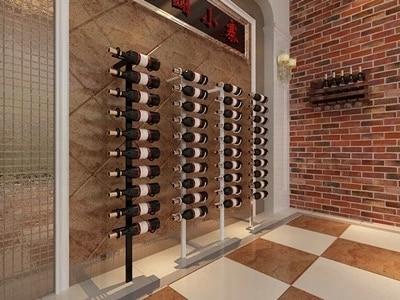 European American Wood Wine Cabinets Showcase Modern Wall Hanging
