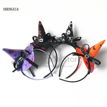 Witch Hat Headband Hair-Accessories Party-Hat Holiday-Party Halloween Children's Adult
