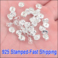 JEXXI Wholesale 1000PC/ Lot 925 Sterling Silver Butterfly BACK STOPPERS Earrings Jewelry Findings For Stud Earrings 5X6MM