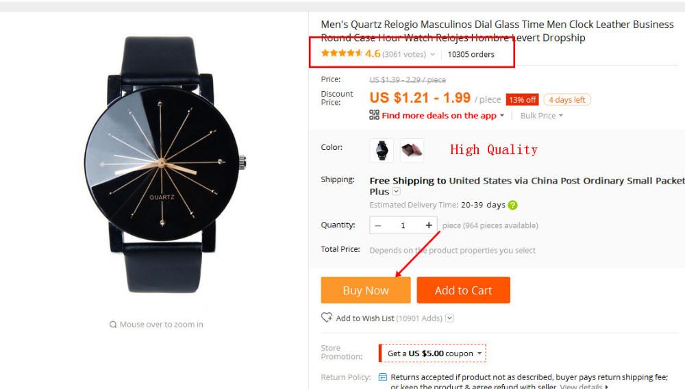 1d3bb45b73f Men s Quartz Fashion watch Levert Dropship-in Quartz Watches from ...