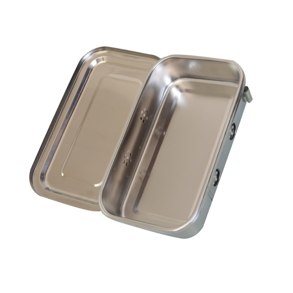 1Pc 8Inch Stainless Steel Box Dental Nursing Instrument Surgical Accessories Container Anticorrosion High Temperature Resistance 5