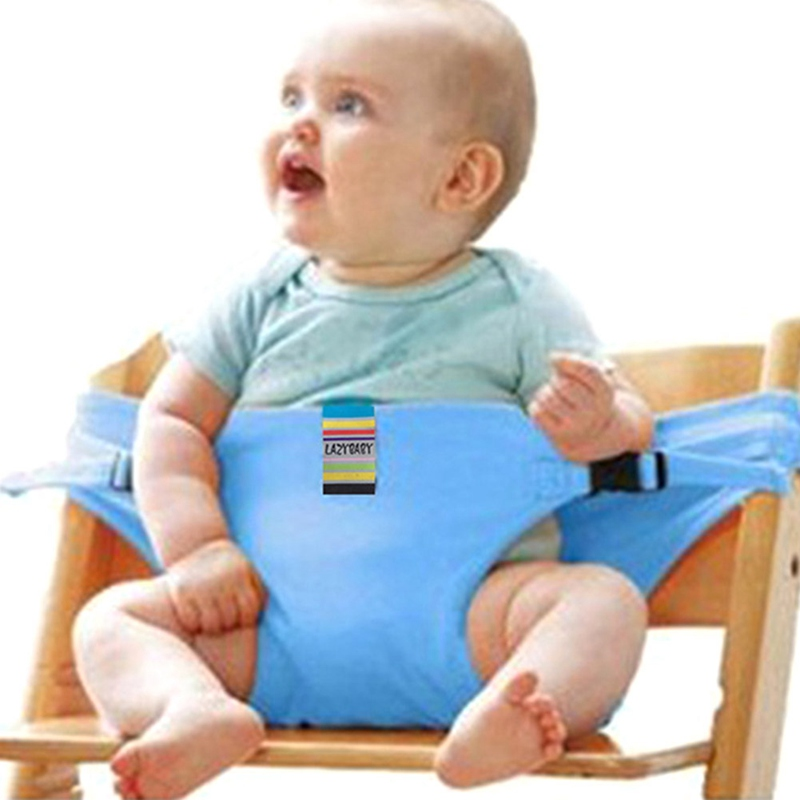 Baby High Chair Eating Lunch Portable Safety Belt Infant Foldable Booster Seat For Dining Chair Baby Seat Harness Safety Strap
