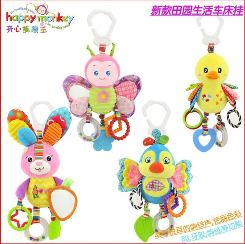 Happy Monkey bebé campanilla neonatal bebé juguetes con campana BB - Juguetes para niños - foto 1