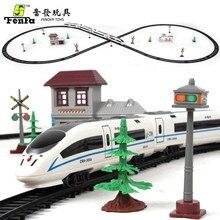 Harmony Express Rail Electric Simulation of Large-sized kids toy Model Railway Toy Set High-speed Harmonious Train