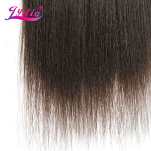Image 4 - Lydia For Women Kinky Straight Wave 12 22 Inch Synthetic Weaving Hair Extension Pure Color #4  Hair Bundles  110g/Pack