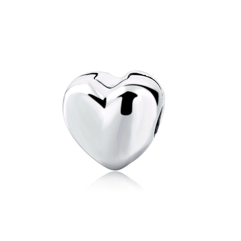 Fit Authentic Pandora Charms Bracelet Silver 925 love Heart shape beads for women jewelry making DIY mother family gift in Beads from Jewelry Accessories