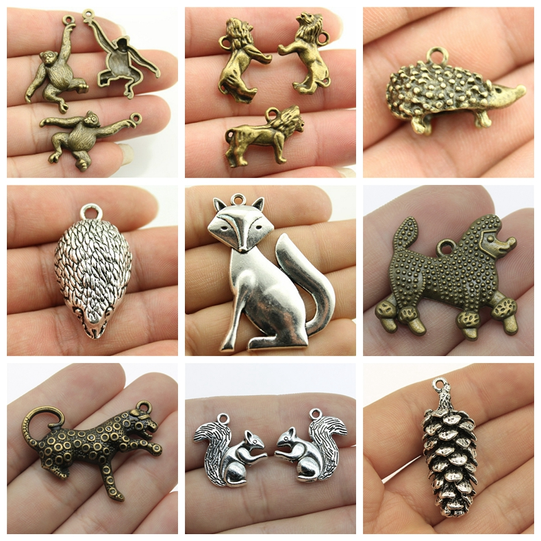 2019 Mix Birthday Fox Charms Animals For Jewelry Making Diy Craft Supplies Findings For Diy Jewelry Accessories Pendant in Charms from Jewelry Accessories