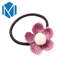 M MISM Hot Sale Fabric Flowers/Floral Girls Ponytail Holders Gum for Hair Ties The Elastic accessories womens Hairpins