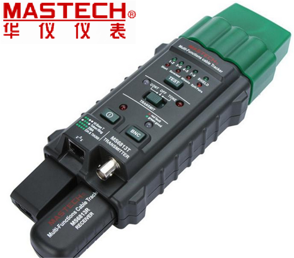 MASTECH MS6813 RJ45 Cable tracking finder Telephone Wire Tracker Tracer Toner Network Cable Tester Detector Line Finder