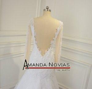 Image 3 - Sexy backless real foto trouwjurk amanda novias robe de mariee