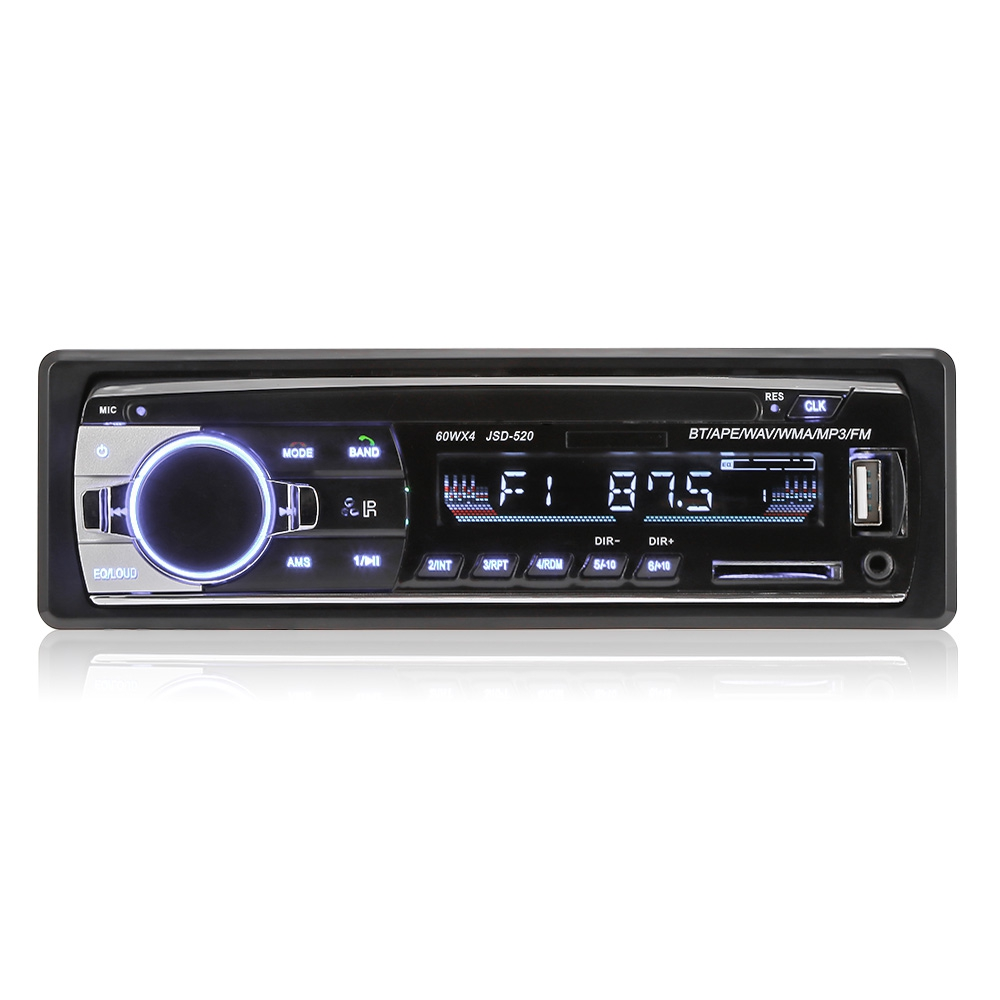 OllyMurs JSD - 520 Car MP3 Player FM Radio Stereo Receiver Bluetooth 2.0 connection, includes wireless music and call XQ-04 image