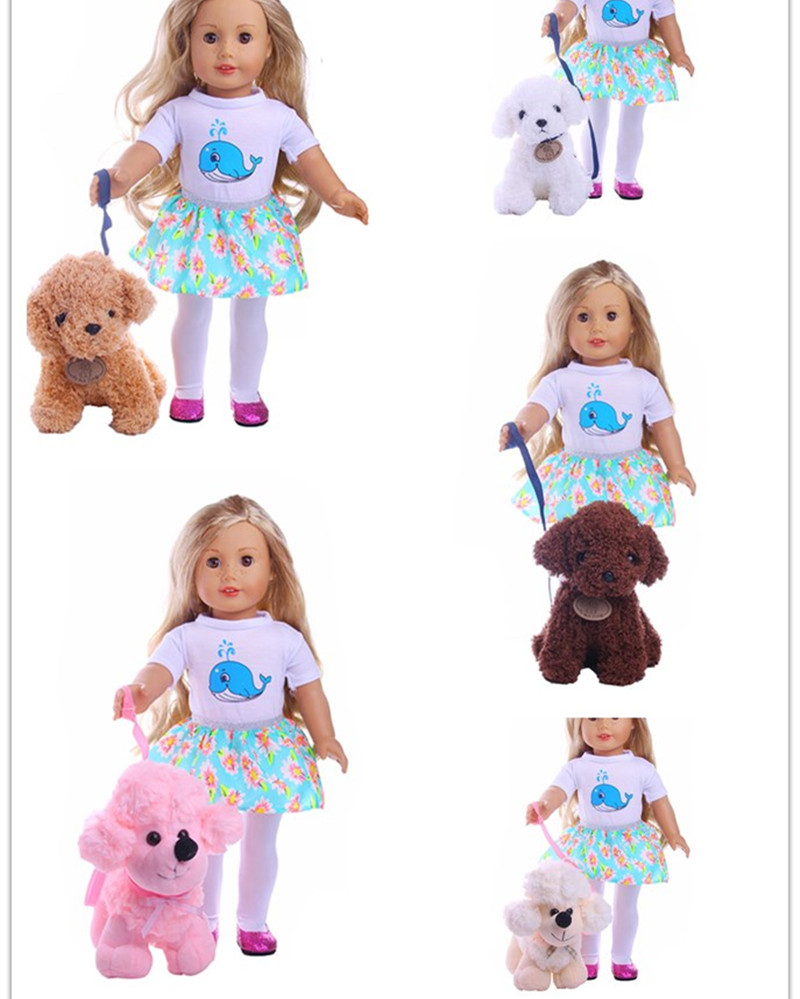 5styles doll pet dog for 18inch American Girl Doll Best Birthday Gifts for Girls сумка printio gta 5 dog