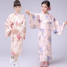 New Design Girl Japan Tradition Clothes Yukata Kimono Japanese Ancient Costume Kids Performance Wear