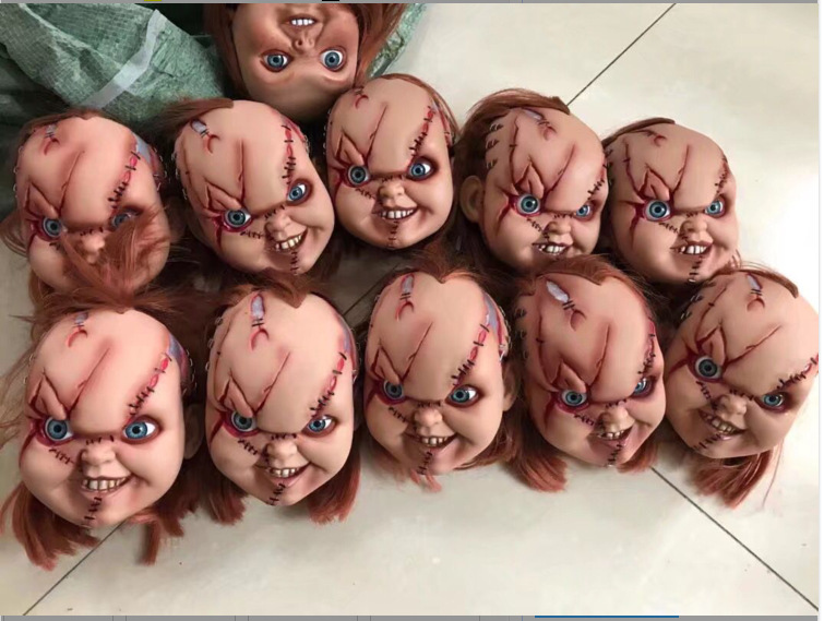Original Garage Kit Classic Toy Fit For 15'' Doll Figure Child's Play - Chucky Scar Face Head Sculpt Collectible Model Loose Toy
