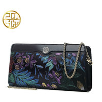 Pmsix Chinese Style Embroidered Womens Bags Famous Brand Luxury Famous Brand Casual Clutch Genuine Leather Day