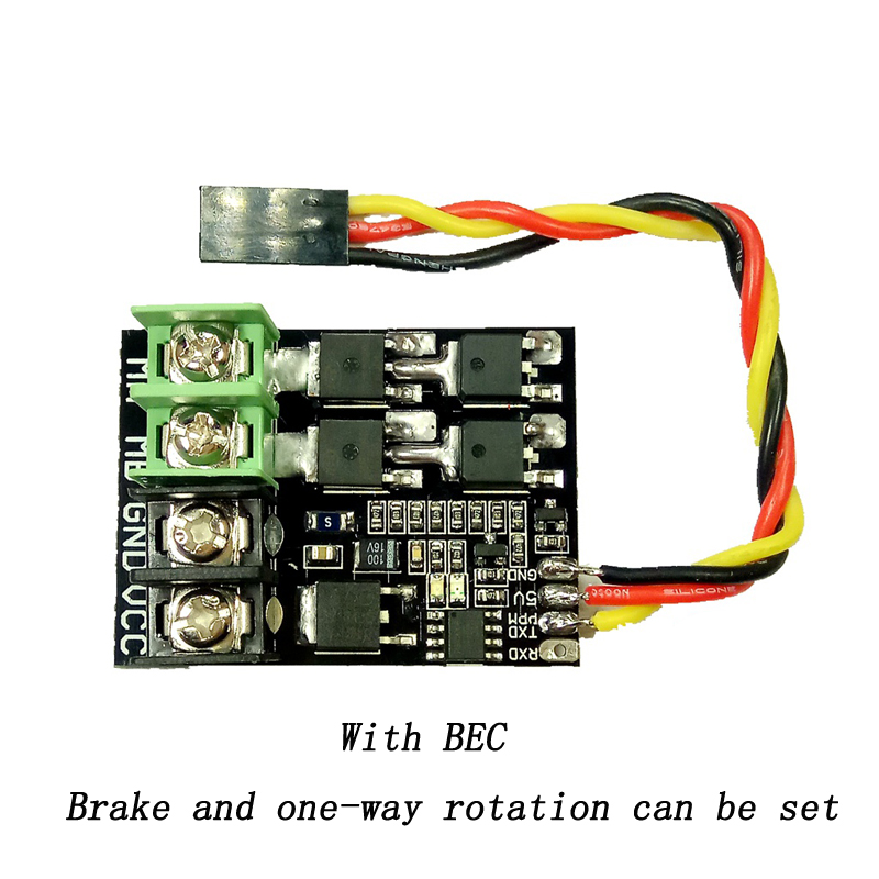 1PC DC Brushed Dual Way ESC <font><b>Motor</b></font> Drive Module PWM Circuit Board 30A 50A 3S <font><b>4S</b></font> w BEC for RC Car/Aircraft 250/450/550 Parts image
