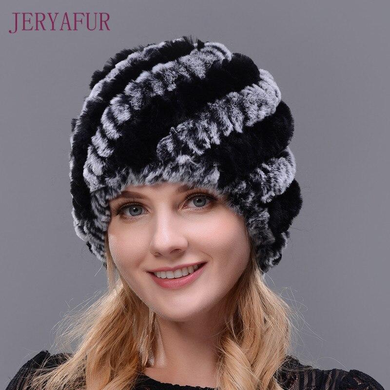 JERYAFUR Knitted Winter Cap Female Women Beanies hats