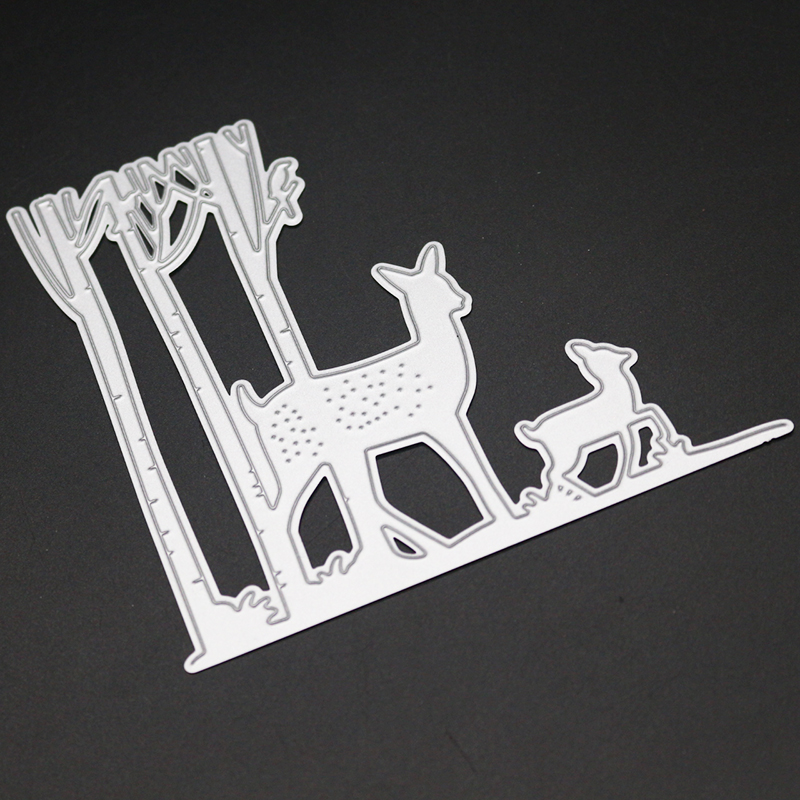 Cute Sika Deers Metal Cutting Dies for DIY Scrapbooking Photo Album Decoretive DIY Paper Card Embossing Stencial in Cutting Dies from Home Garden