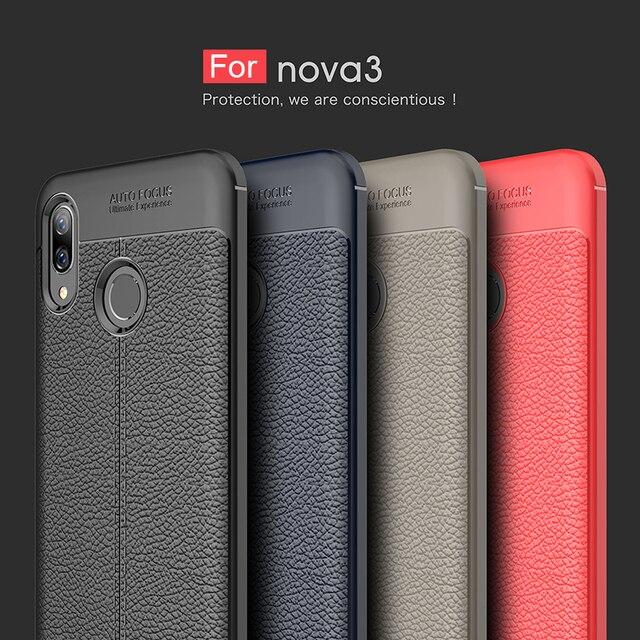 buy popular 3cb26 bf6aa US $2.99 25% OFF|For Huawei Nova 3i Phone Case Nova3i Luxury Soft Silicon  Shockproof Leather TPU Back Cover For Huawei Huawei Nova 3i Case Nova 3-in  ...