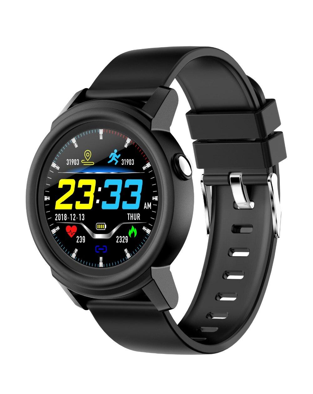 Delle donne degli uomini di smart watch DK02 impermeabile della vigilanza di frequenza cardiaca fitness contapassi tracker per Android IOS orologi sportivi PK Q8 Q1 DZ09