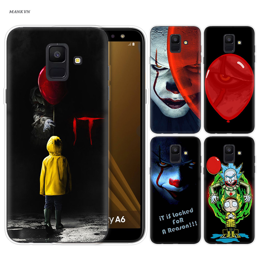 Pennywise Clown Horror Drucken Fall für <font><b>Samsung</b></font> <font><b>Galaxy</b></font> Note 8 9 J4 J6 J8 A6 A8 A7 A9 Star Lite <font><b>s8</b></font> S9 Plus 2018 Vintage Abdeckung Fall image