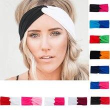 Patchwork Turbante Fasce per Le Donne Twist Stretch Hairbands Della Fascia  di Sport di Yoga Headwrap Testa Fascia Bandana Access. 48ae8651773f