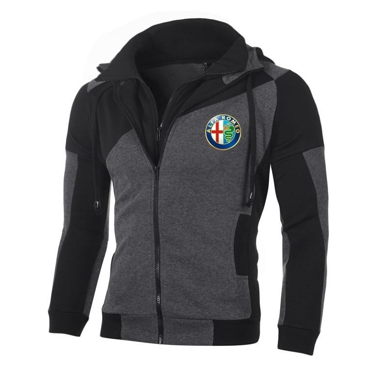 Alfa Romeo Rear Logo Zip Through Hoody Hoodie Hooded Top