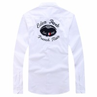 New arrival men's Eden Park Classic Summer Spring Long Sleeve casual Shirt 100% COTTON Camisa Masculina homme