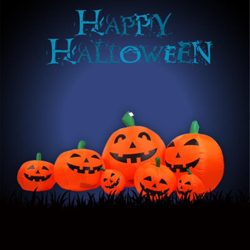 2017 Halloween Inflatable Decoration 7 Different Size Pumpkins Groups with LED Led lights 170cm2017 Halloween Inflatable Decoration 7 Different Size Pumpkins Groups with LED Led lights 170cm